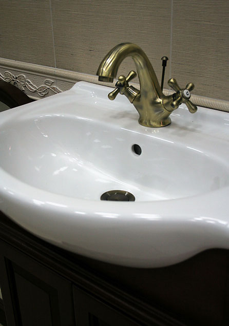 China Sink : China Sink Photograph - Vitreous China Sink and Faucet