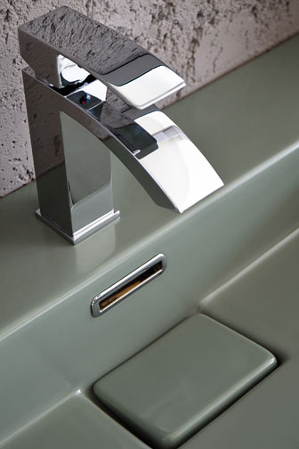 modern bathroom sink and tap